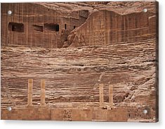 The Theater Carved Out Of A Rock Wall Acrylic Print by Taylor S. Kennedy