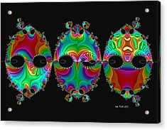 Acrylic Print featuring the digital art The Three Amigos by Kim Redd