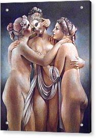 The Three Graces Acrylic Print by Geraldine Arata