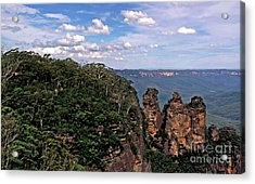 The Three Sisters - The Blue Mountains Acrylic Print by Kaye Menner