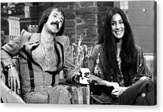 The Tonight Show, Sonny & Cher, 1975 Acrylic Print by Everett