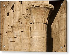 The Tops Of The Pillars Of The Temple Acrylic Print by Taylor S. Kennedy