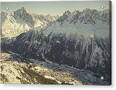 The Tourist Resort Of Chamonix Sits Acrylic Print by Nicole Duplaix