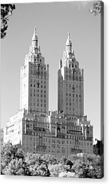 The Towers In Black And White Acrylic Print by Rob Hans