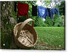 The Traditional Approach To Washday Acrylic Print by Stephen St. John