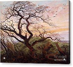 The Tree Of Crows Acrylic Print by Caspar David Friedrich