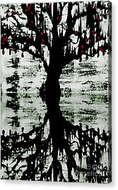 Acrylic Print featuring the painting The Tree The Root by Amy Sorrell