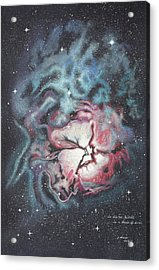 The Trifid Nebula Acrylic Print by Patsy Sharpe