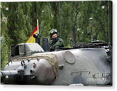 The Turret Of The Leopard 1a5 Mbt Acrylic Print by Luc De Jaeger