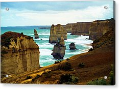 Acrylic Print featuring the photograph The Twelve Apostles - Lost Apostle by Dennis Lundell