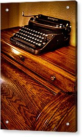 The Typewriter Acrylic Print by David Patterson