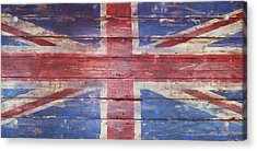 The Union Jack Acrylic Print by Anna Villarreal Garbis