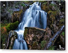The Upper Butler Fork Falls Acrylic Print by Mitch Johanson