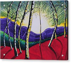 The Valley Acrylic Print by Kris LeBlanc
