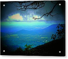 The Valley Acrylic Print by Michael L Kimble