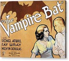 The Vampire Bat, Fay Wray, Lionel Acrylic Print by Everett