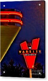 The Varsity Sign 2 Acrylic Print by Corky Willis Atlanta Photography