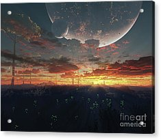 The View From An Alien Moon Towards Acrylic Print by Brian Christensen