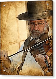 Acrylic Print featuring the digital art The Violinist by Thanh Thuy Nguyen