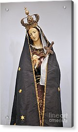 The Virgin Mary Statue In Church Acrylic Print by Sami Sarkis