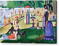 The Virgin Of Guadalupe Takes A Sunday Afternoon Walk Along Seurate's La Grande Jetta  Acrylic Print