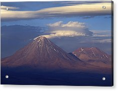The Volcano Llicancabur. Republic Of Bolivia. Acrylic Print by Eric Bauer