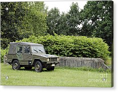The Vw Iltis Jeep Used By The Belgian Acrylic Print by Luc De Jaeger