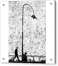 The Walk Of Life..#italy #bw Acrylic Print