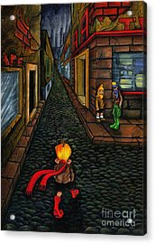 The Walk Of Loneliness Acrylic Print by Spencer Bower