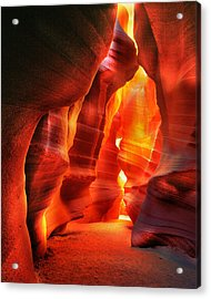 The Wall Of Fire Acrylic Print by Daniel Chui
