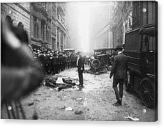 The Wall Street Bombing. A Man Stands Acrylic Print by Everett