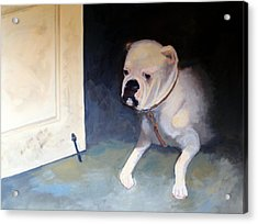 Acrylic Print featuring the painting The Watcher by Rosemarie Hakim