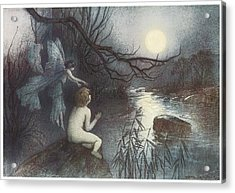 The Water Babies Acrylic Print by Warwick Goble