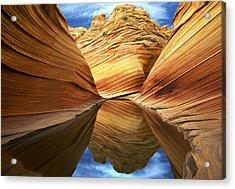 The Wave Reflection Acrylic Print by Joe  Palermo