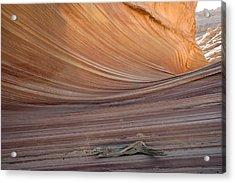 The Wave Rock Formation, Arizona, Usa Acrylic Print by Bob Gibbons