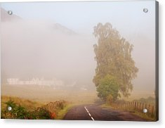 The Way To Never Never Land. Misty Roads Of Scotland Acrylic Print by Jenny Rainbow
