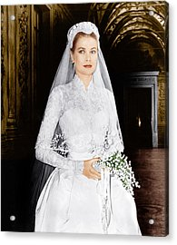The Wedding In Monaco, Grace Kelly, 1956 Acrylic Print