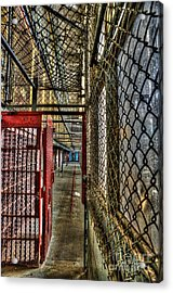 The West Virginia State Penitentiary Cell Hallway Acrylic Print by Dan Friend