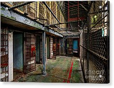 The West Virginia State Penitentiary Cells Acrylic Print by Dan Friend