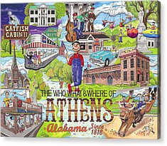 The Who What And Where Of Athens Alabama Acrylic Print by Shawn Doughty