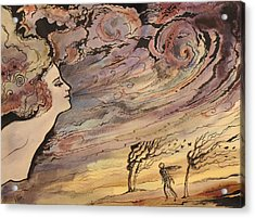 Acrylic Print featuring the painting The Wind by Valentina Plishchina