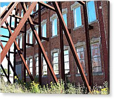 Acrylic Print featuring the photograph The Window Wall by MJ Olsen
