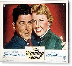 The Winning Team, Ronald Reagan, Doris Acrylic Print by Everett