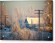 The Winter Country Acrylic Print by Nikolay Krusser
