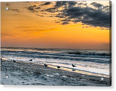 The Wintery Feeling Beach At Sunrise Acrylic Print