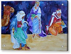 The Wisemen Acrylic Print by Suzy Pal Powell