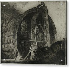 The Worlds Largest Water Wheel Powered Acrylic Print by Everett