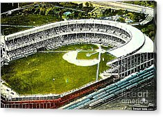 The Yankees' Polo Grounds In New York City In The 1920's Acrylic Print by Dwight Goss