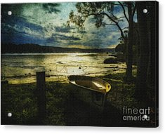 The Yellow Boat Acrylic Print by Avalon Fine Art Photography