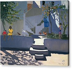 The Yellow Dress Acrylic Print by Andrew Macara